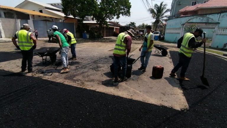 Municipalidad de SPS realiza mantenimientos en vías de la Fesitranh y Los Álamos