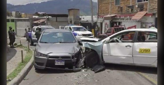 persecución Policía taxi Tegucigalpa