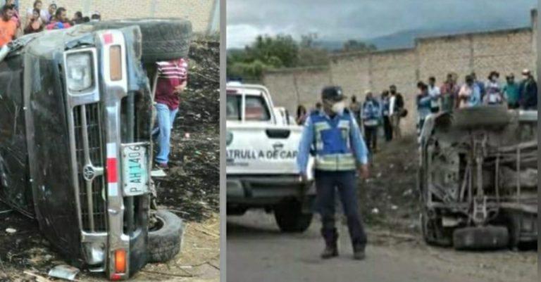 Volcamiento deja dos muertos y varios heridos en Morocelí, El Paraíso