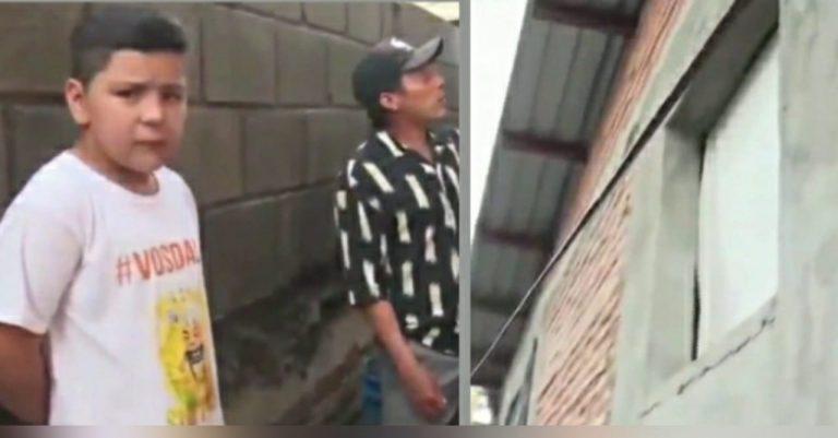 TGU: padre rompe ventana y se lanza a salvar a su hijo que era arrastrado por la lluvia