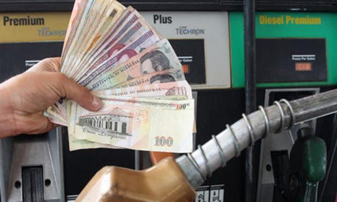 rebajas a combustibles Honduras