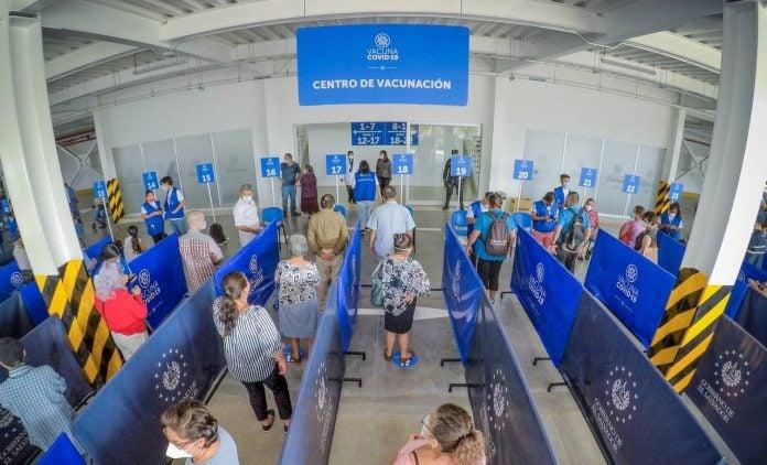 GALERÍA| Así es el megacentro de vacunación anticovid de El Salvador