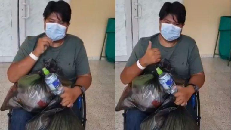 Hondureño vence el COVID tras 23 días interno y 90 % de afectación pulmonar