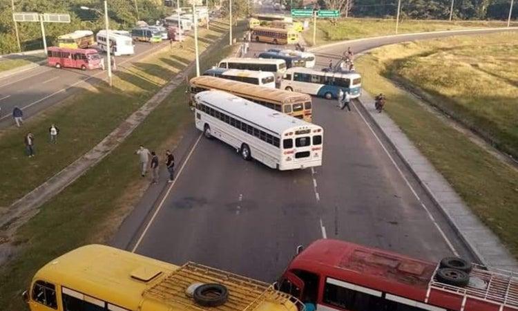 paro transporte interurbano