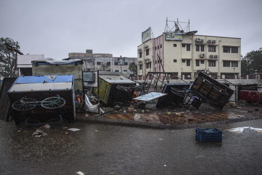 Ciclón en India