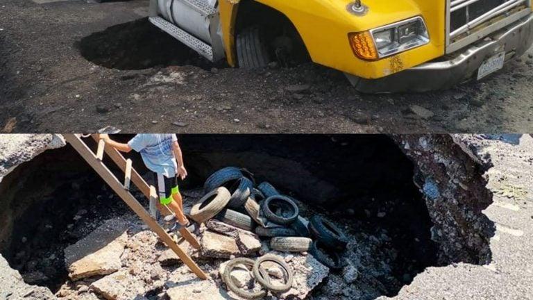 Un mes con «cráteres» en Yojoa: vecinos están hartos y exigen celeridad a COVI