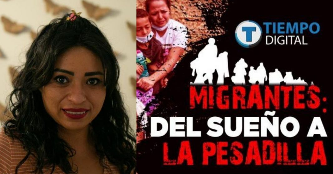 mujer migrante hotel México