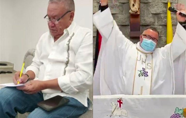 «Sin la mascarilla, hay COVID pa´ ti y pa´ mí»: Pilo Tejeda graba con sacerdote de Costa Rica