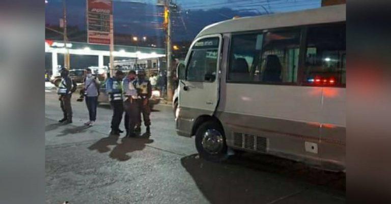 """Atentan contra conductor de bus """"rapidito"""" en Comayagüela"""