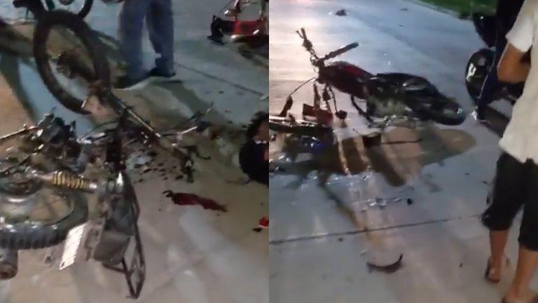 Brutal accidente: un muerto y dos heridos por hacer «piques» en motocicleta en SPS