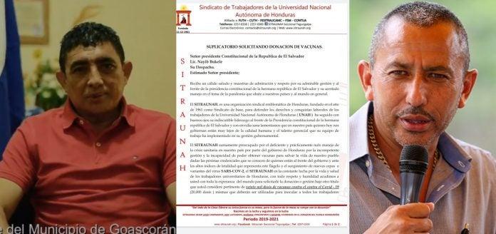 Alcaldes SITRAUNAH petición vacunas Bukele