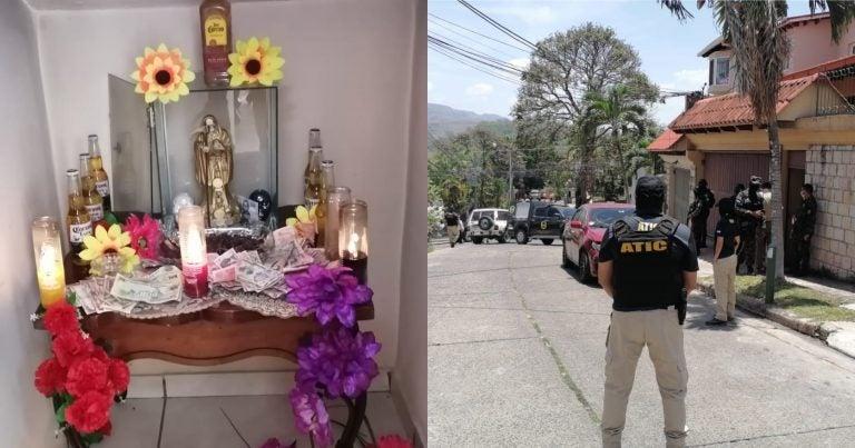 """Hallan altar de la """"Santa Muerte"""" en supuesta vivienda de la MS-13"""