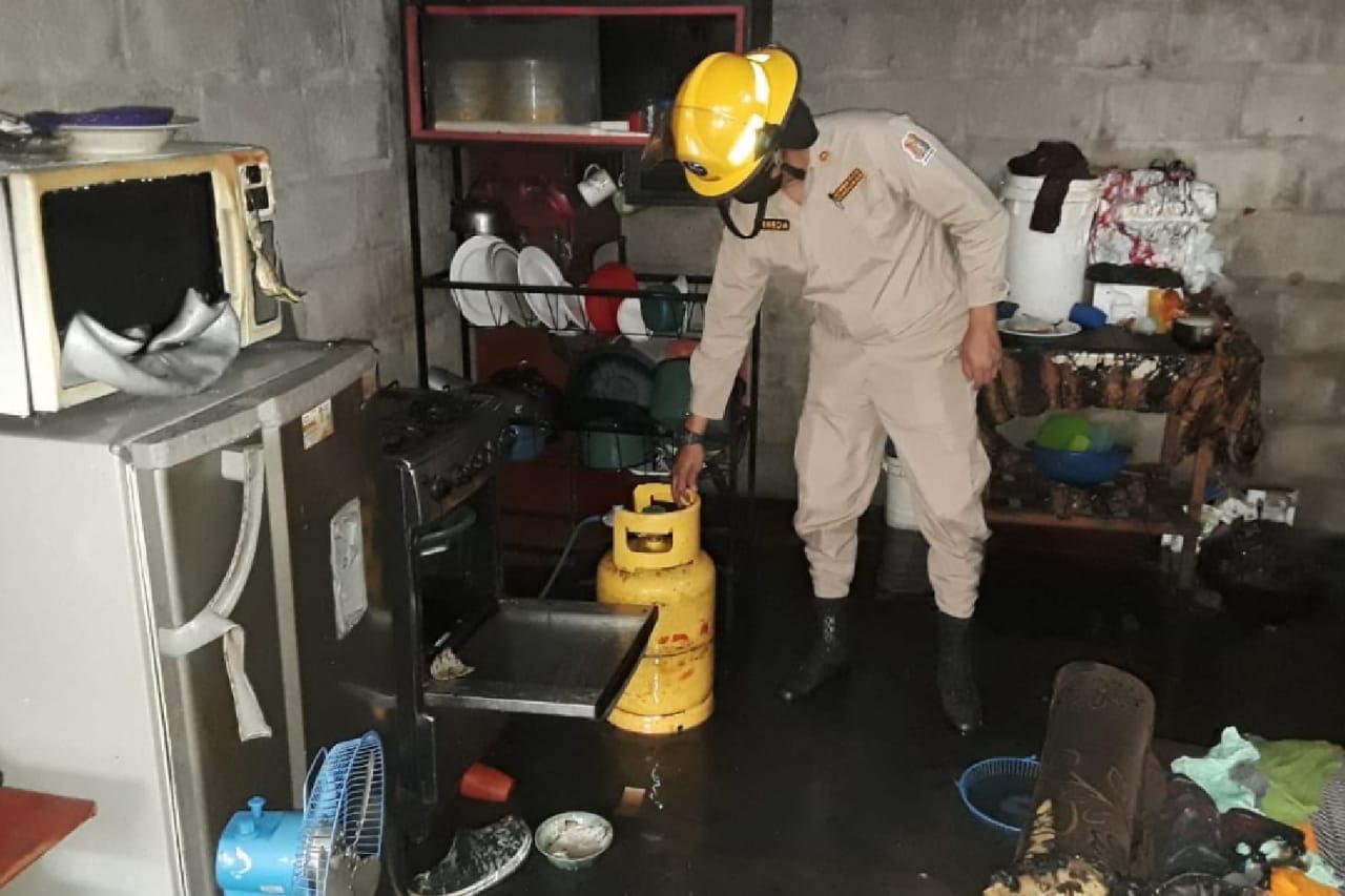 quemados en Olancho por chimbo de gas