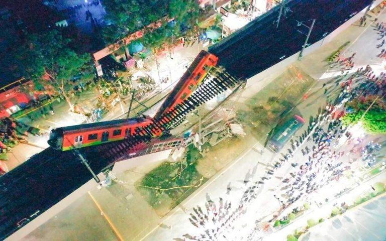 Accidente de tren en México: el colapso de la «línea dorada» ya deja 23 muertos