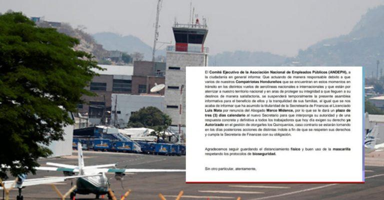 ANDEPH suspende protesta y da tres días: retoman actividades en el Toncontín