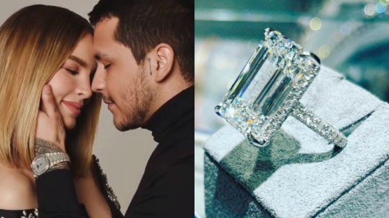 ¿Cuánto cuesta el anillo de compromiso que Nodal le dio a Belinda?