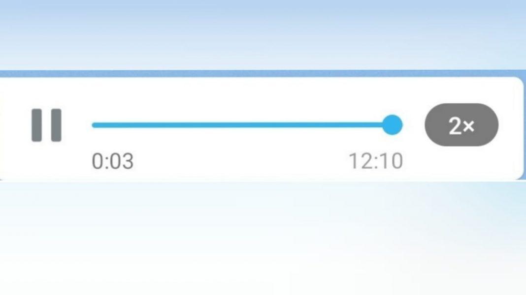 WhatsApp audios mayor velocidad