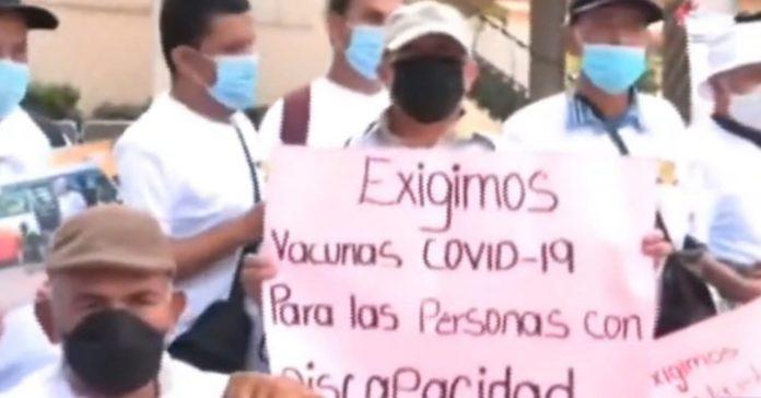 discapacitados vacuna Honduras protesta