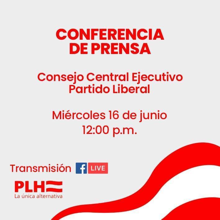 TRANSMISIÓN EN VIVO: Conferencia de prensa del Partido Liberal
