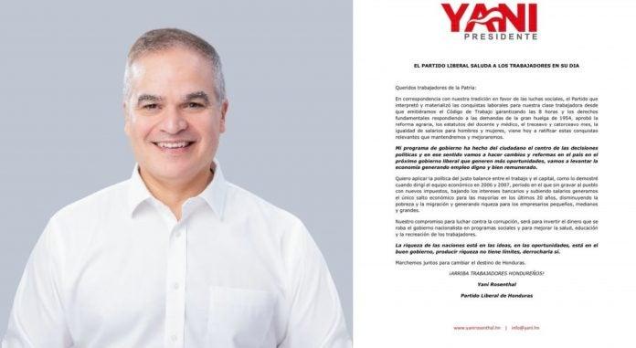 Yani felicita a los trabajadores