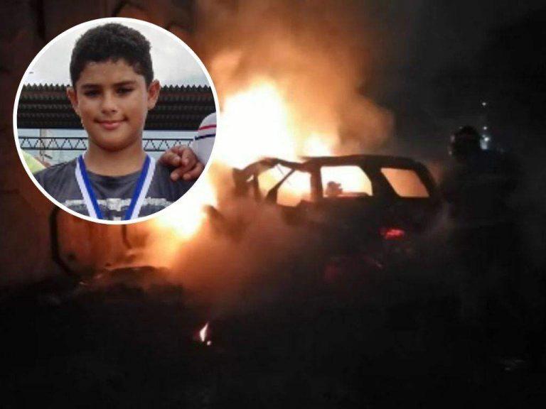 Investigan caso de joven de 15 años que murió calcinado; carro tenía golpe atrás