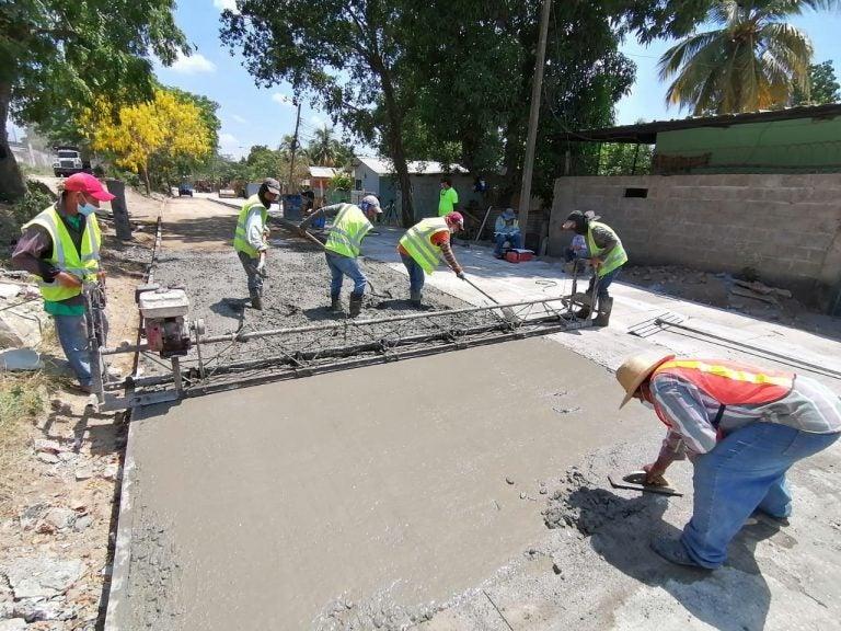 En Chamelecón, Municipalidad de SPS alcanza un 25 % en proyecto de pavimentación