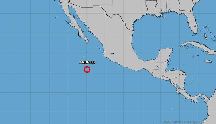 ¿Afectará a Honduras? La depresión tropical Andrés se mueve en el Pacífico