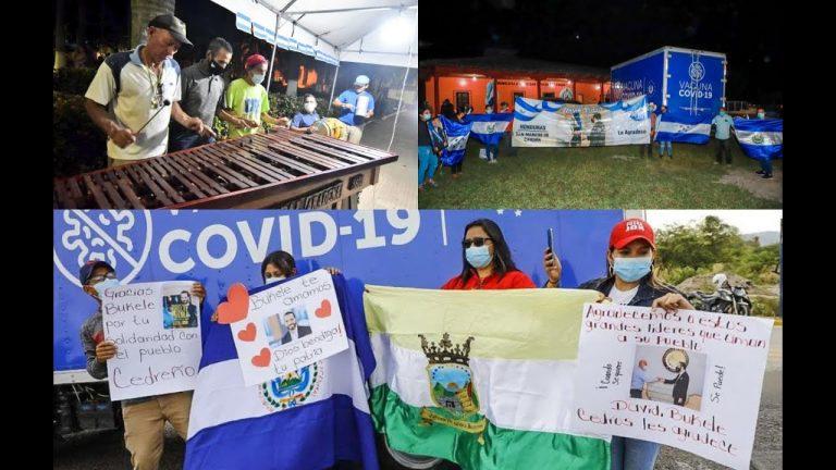 Vacunas llegan a cada municipio: hondureños se mostraron alegres y agradecidos