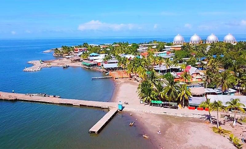 construcción del puerto de omoa