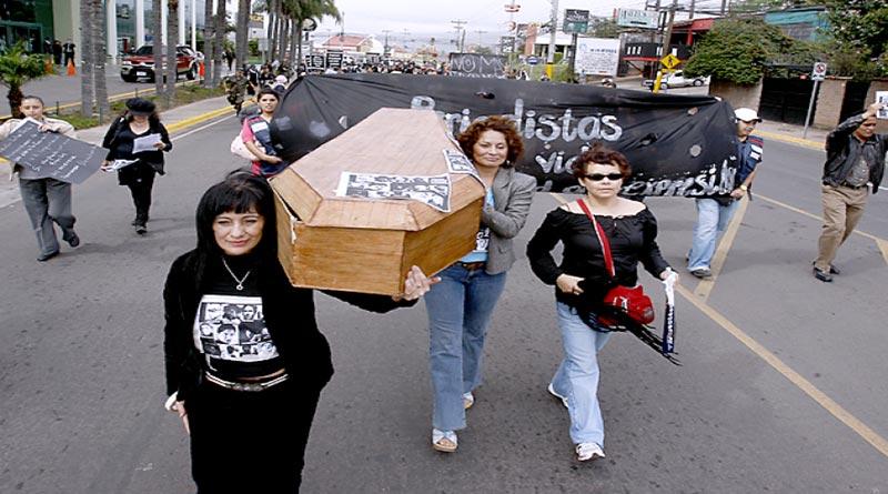 periodistas víctimas violencia Honduras