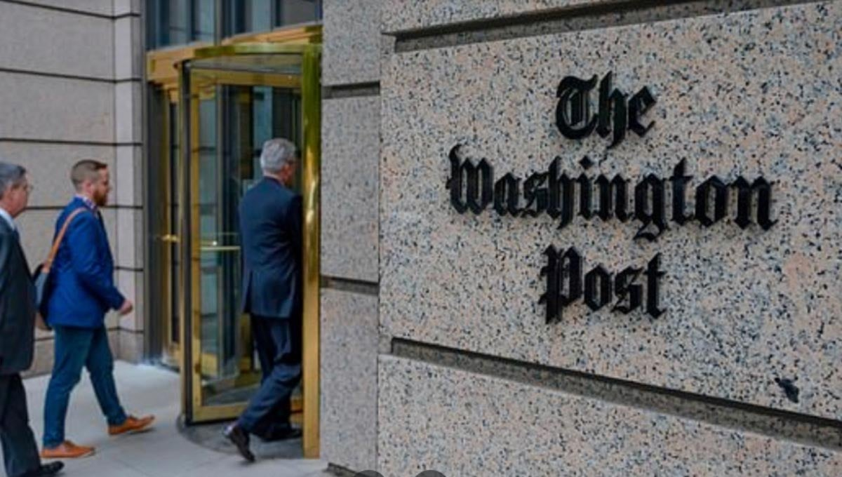 El prestigioso periódico estadounidense, propiedad desde 2013 del multimillonario Jeff Bezos, fundador de Amazon.