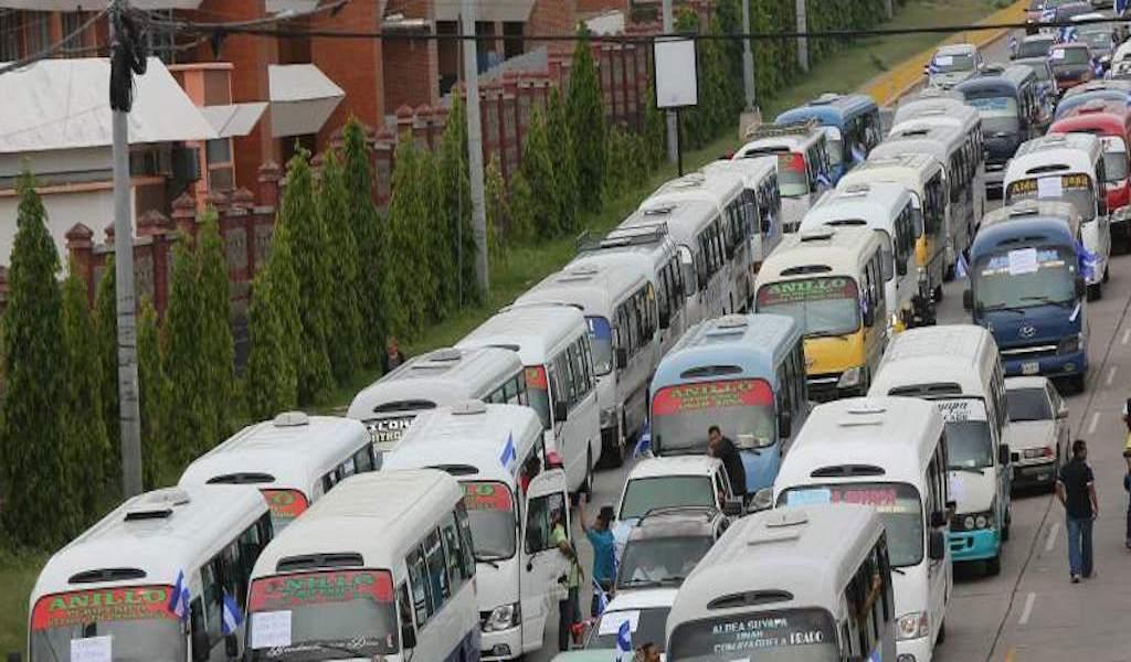 Paro transporte Honduras