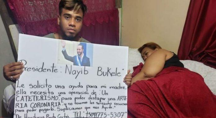 Hondureño madre ayuda Bukele