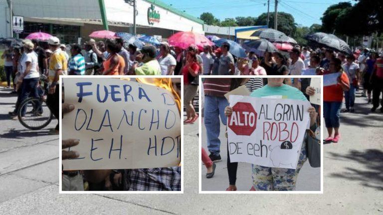 Honduras: protestas contra la EEH, tan constantes como sus apagones