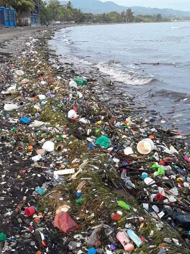 Playas de Cortés basura Guatemala