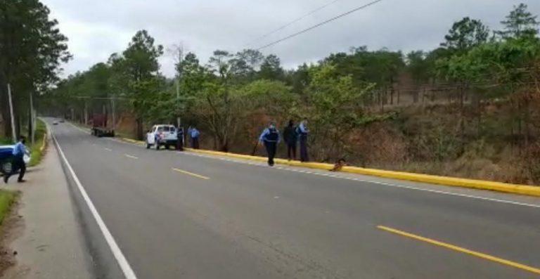 Matan a dos hombres en Guaimaca y dejan sus cuerpos a orilla de carretera