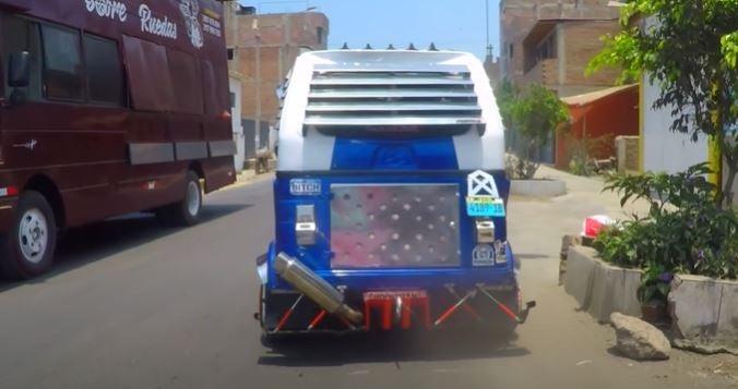 Mototaxis tuneadas, con elementos y diseños jamás pensados