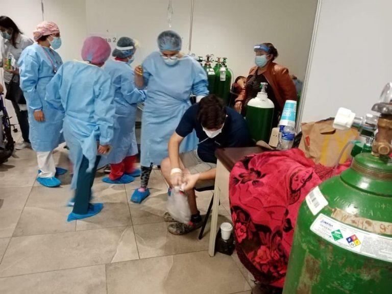 Salas de estabilización de triajes «al tope»: 81 pacientes esperan cupo en hospital