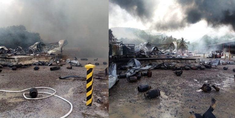 """""""La empresa nos da de comer"""": Empleados se preocupan por incendio en Tropigas"""
