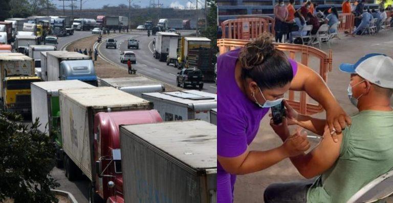 Definen día para inicio de vacunación a transportistas de carga pesada