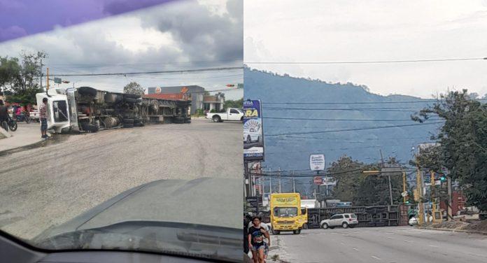 tráfico en carretera de Choloma a SPS