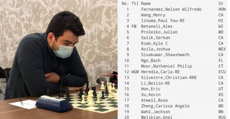 Hondureño se corona campeón de torneo de ajedrez en Las Vegas, Nevada
