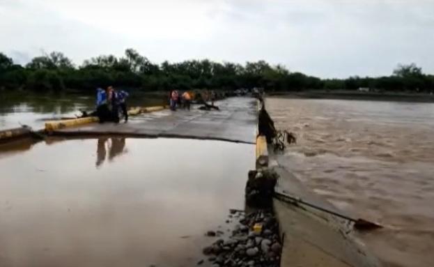 Por fallas en puente bailey, pobladores de Valle están incomunicados