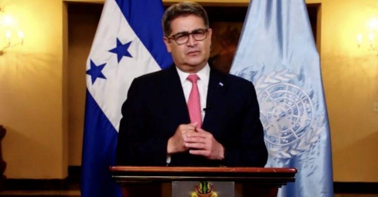 JOH vuelve a defenderse de acusaciones, ahora en cumbre de la ONU