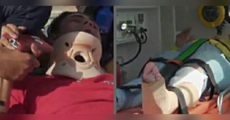 Carro atropella a periodista y camarógrafo de HCH y se da a la fuga