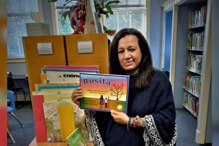 Hondureña promueve su cultura en EEUU y publica libro sobre la lluvia de peces