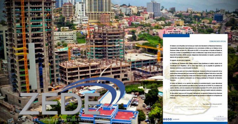 Gobierno de Honduras responde a la ONU por su preocupación sobre las ZEDEs