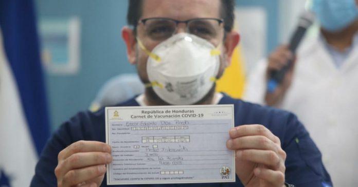 carnet vacunación viajar Honduras