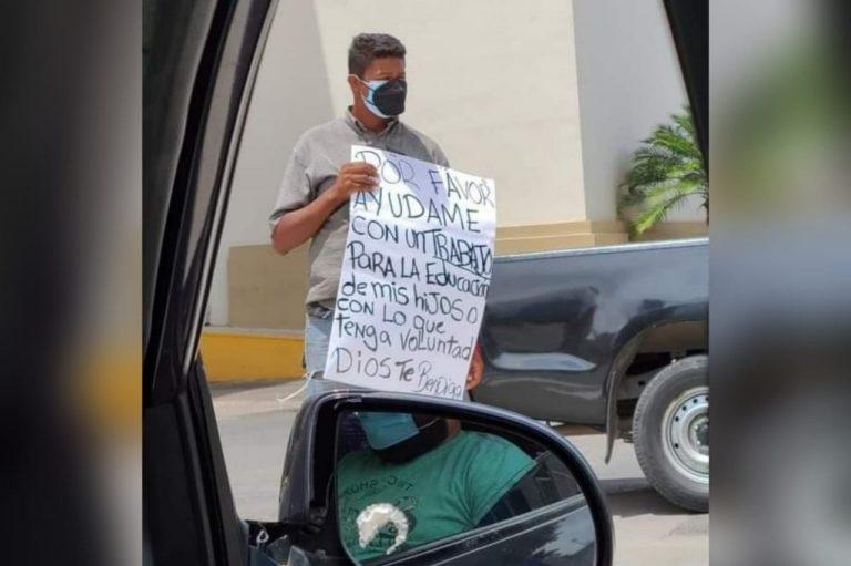 «Por favor ayúdame»: hondureño pide trabajo para la educación de sus hijos