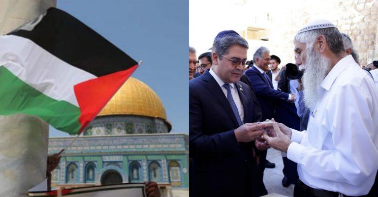 Palestina considera «hostil» apertura de embajada hondureña en Jerusalén